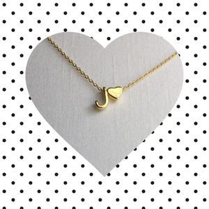 Jewelry - Letter J Initial Necklace